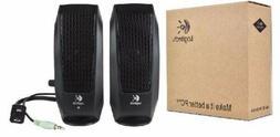 Logitech S-120 2.0 Speaker System - 2.3 W RMS - Black  *