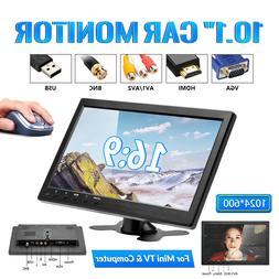"10.1"" HD CCTV LCD Monitor PC Screen AV/RCA/VGA/HDMI/BNC Vide"