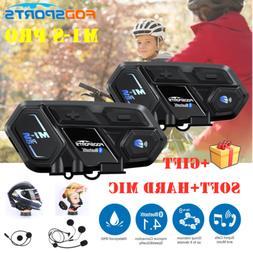 1pc/2pcs Motorcycle Bluetooth Intercom M1-S Pro 2000m For 8
