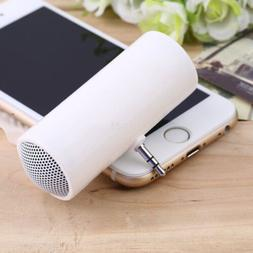 1Pc Portable Stereo Mini Speaker 3.5mm Jack Plug In For Phon