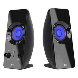 Cyber Acoustics 2.0 Lighted Bluetooth Speaker System - Home