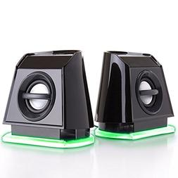 GOgroove 2MX LED Computer Speakers with Powered Subwoofer, G