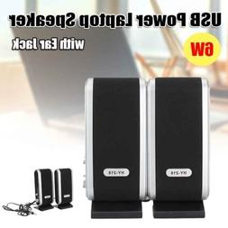 2x USB Power Wired Computer Speakers Stereo 3.5mm Jack For D
