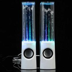 2PCS LED Dancing Water Light Bluetooth Speakers Show Music F