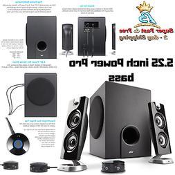 3 Pcs Speaker System PC Subwoofer 30 Watt Powered Satellite