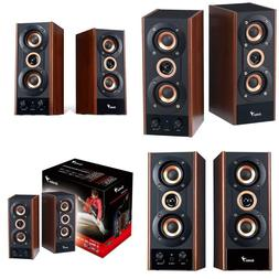 Genius 3-Way Hi-Fi Wood Speakers For Pc, Mp3 Players, And Ta