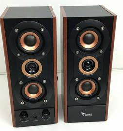 Genius 3-Way Hi-Fi Wood Speakers - For PC, MP3 players, and