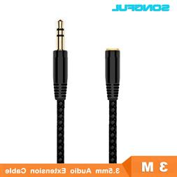 3M 10ft Jack 3.5mm Earphone Extension Cable Female to Male F