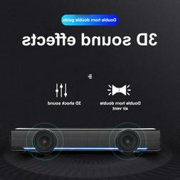 3W Black USB Multimedia Stereo Speakers System For PC Laptop