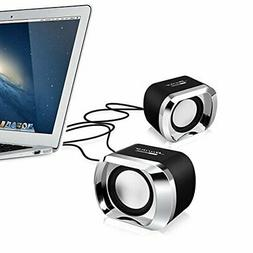 4 Pack Computer PC Speakers 2.0 USB Powered Portable Audio D