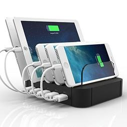 5 Port USB Charging Station Charge Dock Organizer, sanipoe C