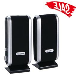 6w portable wired usb computer speakers stereo