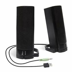 Computer USB Powered Monitor Speaker Sound Bar 3.5mm Audio W