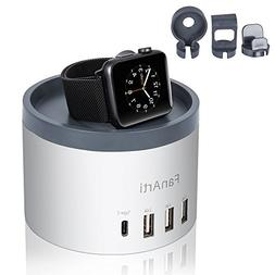 FanArti 5-ports Charging Station Desktop USB Charger with Ph