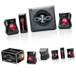 Genius SW-G2.1 1250 2.1 Channel Speaker System With Wooden C