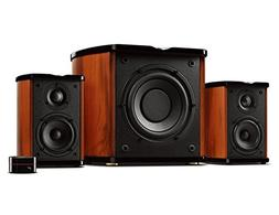 Swan Speakers - M50W - Powered 2.1 Bookshelf Speakers - HiFi