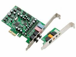 Syba SD-PEX63081 7.1 Surround Sound PCIe Sound Card, S/PDIF