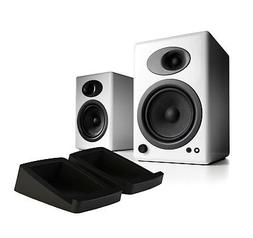Audioengine A5+/DS2 Bundle White Powered Speaker w/Stands