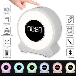 JIAXIN Alarm Clock Light Bluetooth Speaker Rechargeable,Smar
