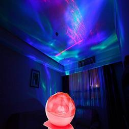 Aurora Borealis Projection Night Light Diamond Style Color C