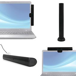 DURAGADGET Black Laptop Speaker with Screen Mount and Deskto