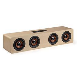 Bluetooth 4.0 Speaker, KeepMoving 12W Four Loudspeaker Shock