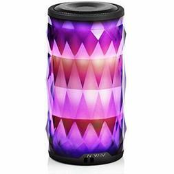 LED Bluetooth Speaker,Night Light Changing Wireless Speaker,