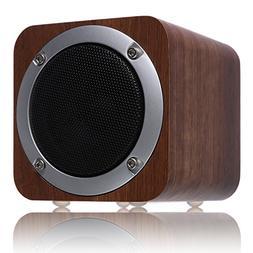 Bluetooth Speaker Wooden, ZENBRE F3 6W Portable Bluetooth 4.