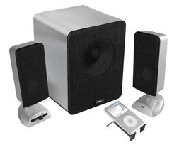 Cyber Acoustics 3 pc Brushed Aluminum Series Speakers CA-361