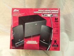 Cyber Acoustics CA-3001 2.1 Speaker System - 8 W RMS - Black
