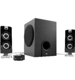 Cyber Acoustics CA 3602 3 Piece Speaker Sound System With Su