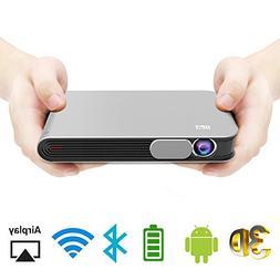 WOWOTO CAN Mini Projector Portable Video Projector DLP Suppo