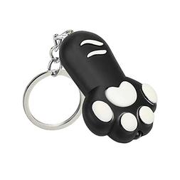Gbell Cat Feet Flashlight Keychain Toys with LED Light and S
