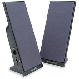 "CCS30251 Flat Panel Speakers,3"" Full Range,6' Cord,3""x8"",Bla"