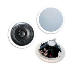 8 inch 2-way Ceiling Speakers, 120W max, Pair  BY NETCNA