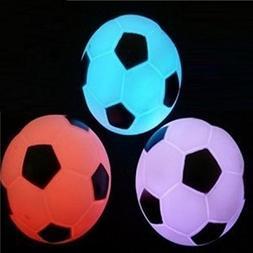 coffled 1 pcs Multi-color Change LED Lamp Football Soccer Ni