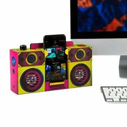 Colourful Touch Boombox Portable Speaker - Boxed Small Devic