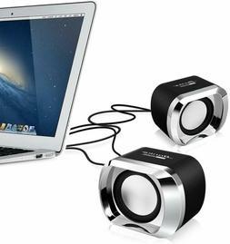 Computer PC Speakers 2.0 USB Powered Desktop Audio Laptop US