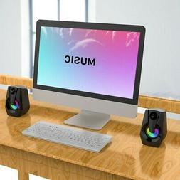 Computer PC Speakers Desktop Stereo 2.0 USB Multimedia Speak