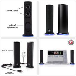 GOgroove Computer PC Speakers SonaVERSE Ti - USB Powered Alu