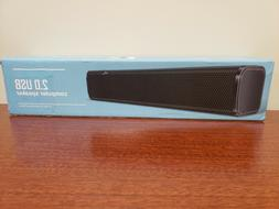 NJSJ Computer Soundbar Speaker USB Powered 3.5mm Aux Speaker
