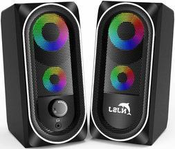 Computer Speaker 2.0 USB Powered RGB Gaming Speaker 3.5mm Ja