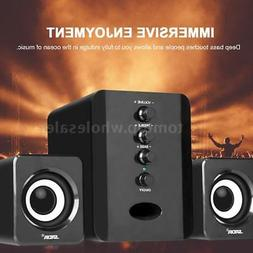 Computer Speakers 2.1 USB Desktop PC Laptop Audio Player Sys