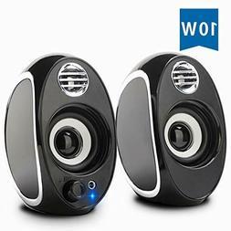 Computer Speakers, BONKS 10W PC Powered Speakers USB Speaker