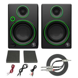 "Mackie CR3 3"" Creative Reference Multimedia Monitors  with B"