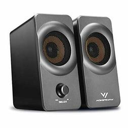 Desktop Computer Speakers With Stereo Sound Fr PC Laptop Sil