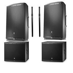 JBL EON615 1000 watt powered 15' speaker  with 2 JBL EON618S