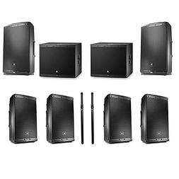 JBL EON615 1000 watt 15' powered speaker  with 2 JBL EON618S