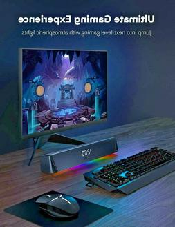 TaoTronics Gaming Computer Speaker, Dual Powerful 7W Drivers