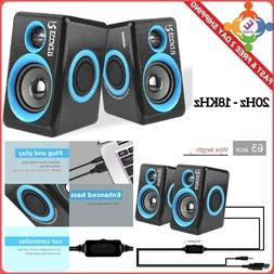 Gaming Speakers 6x9 PC Surround Sound System Loud Deep Bas
